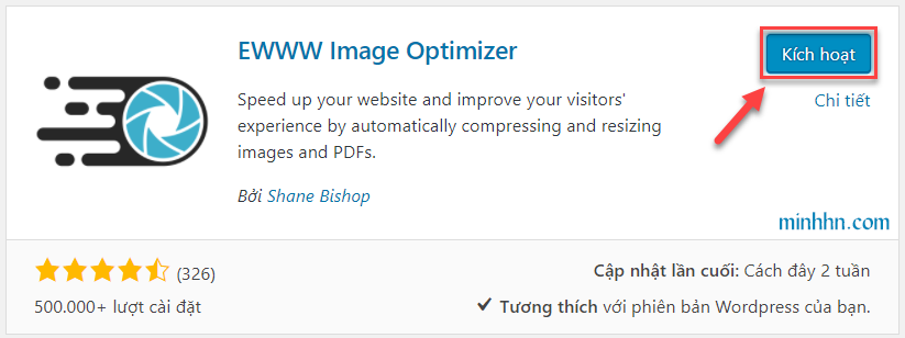 Active plugin EWWW Image Optimizer