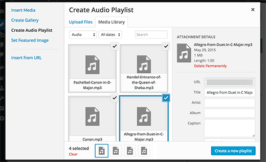Add Audio Files and Playlists in WordPress