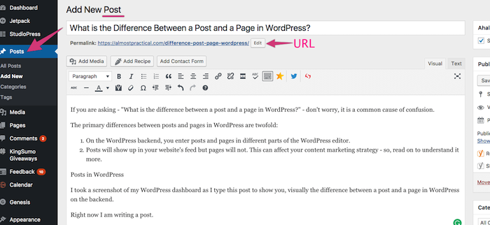 Post trong wordpress