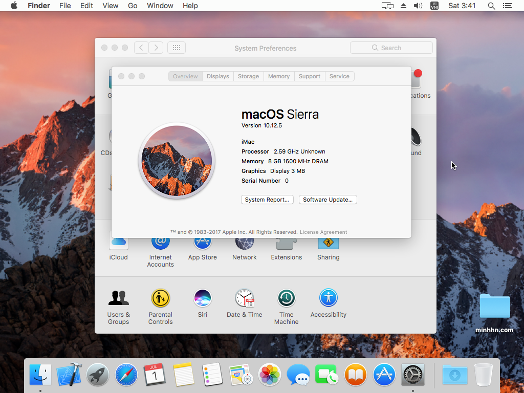 Giao diện macOS Sierra