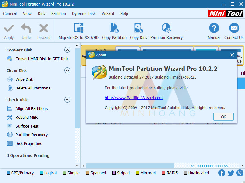 MiniTool Partition Wizard Professional 10.2.2