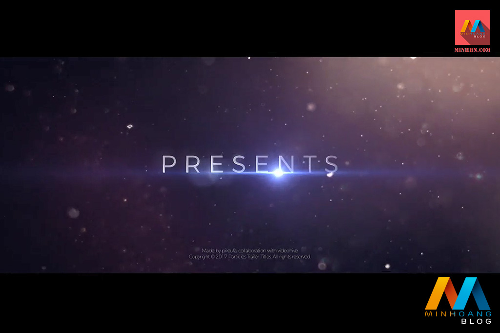 Particles Trailer Titles After Effects Template