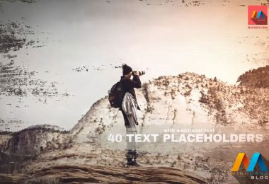 Immersion Artistic Parallax Slideshow After Effects Template