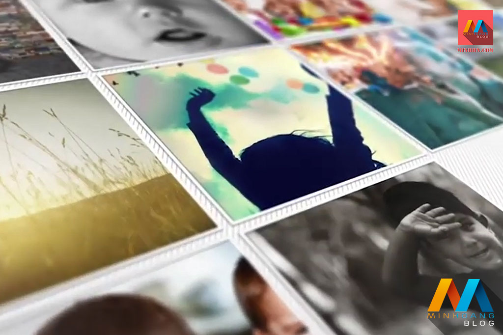 Mosaic Photo Reveal After Effects Template