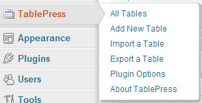 TablePress plugin