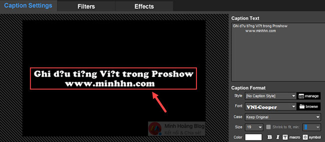 Lỗi font tiếng Việt trong ProShow Producer