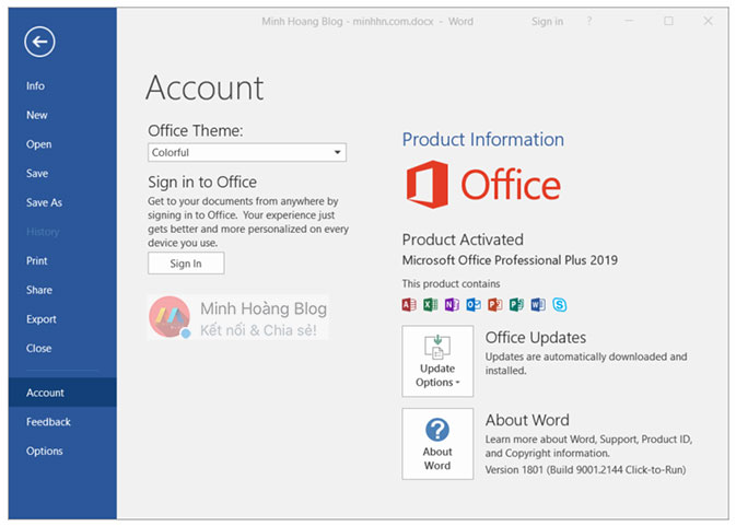 Microsoft Office Professional Plus 2019 Preview - Microsoft Word 2019