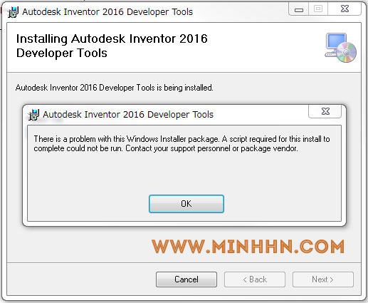 Error cannot install developertools.msi