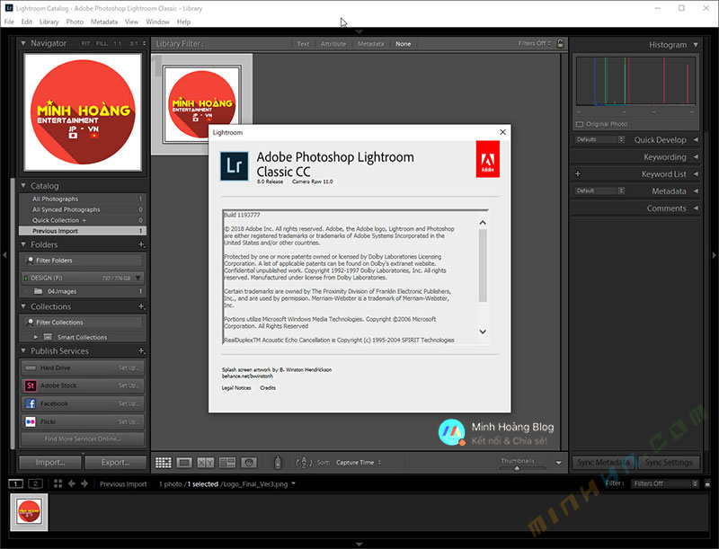 Adobe Photoshop Lightroom Classic CC 2019 v8 Full Version (DEVELOP MODE WORKING) - Hình 6