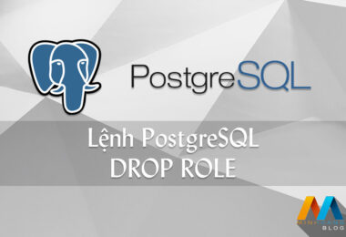 Lệnh PostgreSQL DROP ROLE